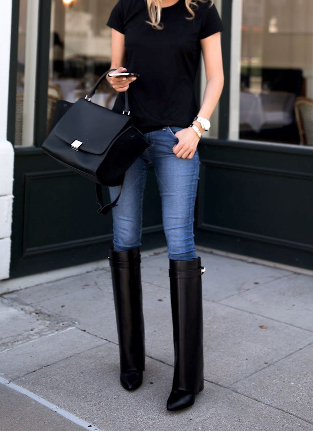 Givenchy fold over boots