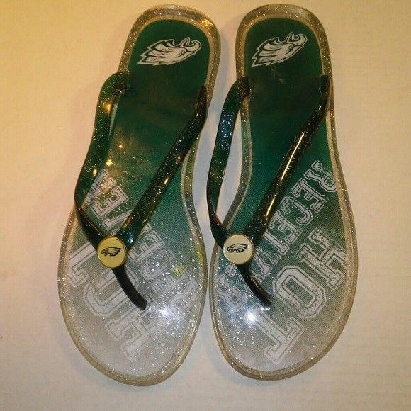 Philadelphia Eagles Women's Jelly Sandals Large 11-12 #PhiladelphiaEagles