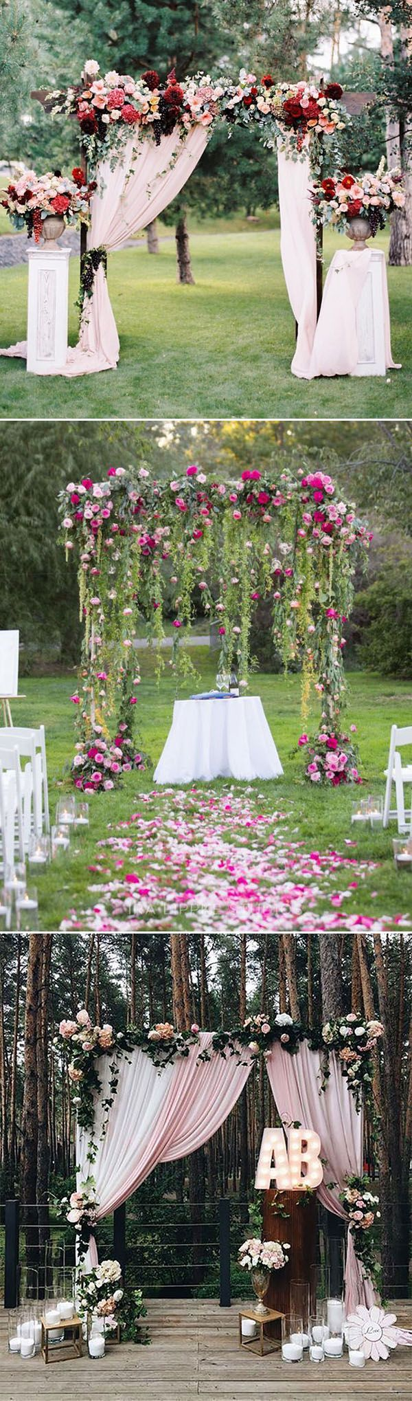 25 best ideas about wedding arch decorations on pinterest for Altar decoration wedding