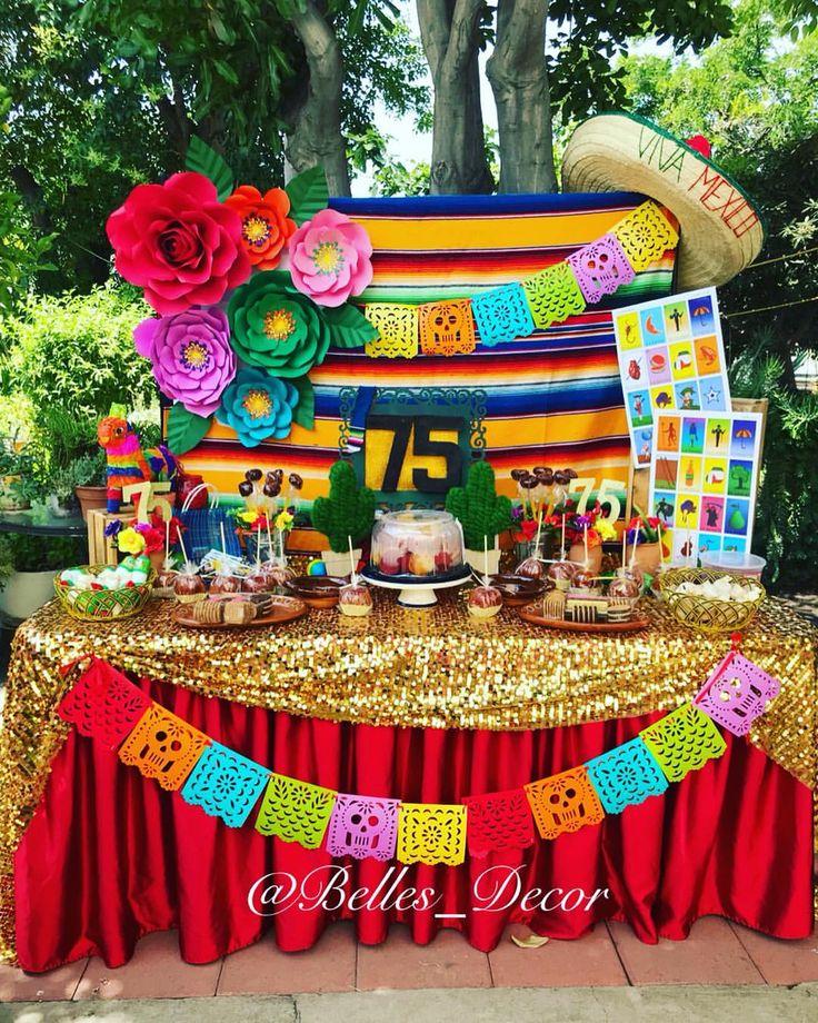 Happy 75th birthday 🎂! A fiesta party from Saturday set ups! #fiestamexicana … – Fiesta