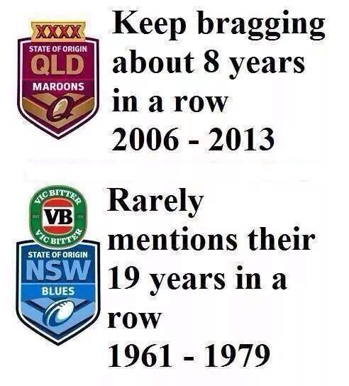 NSW State of Origin MATE!! i never knew we had 19 wins in a row, GO BLUES!