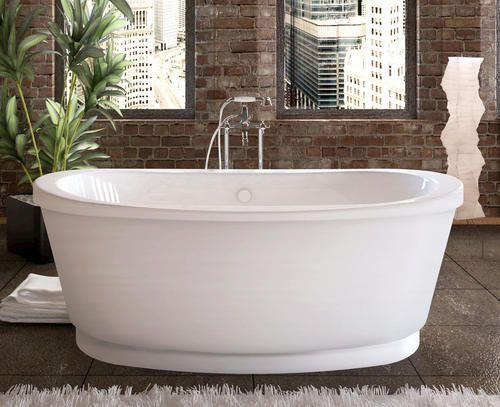 Peak 36 x 66 freestanding soaking bathtub at menards for Best soaker tub for the money