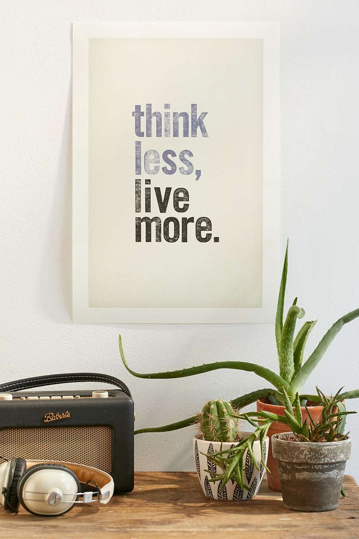 Chloe Vaux Think Less, Live More Art Print - Urban Outfitters #UOonCampus