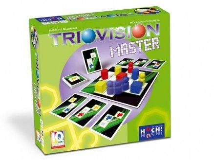 Triovision Master Neun verschiedene Spielsteine stehen auf dem Spielplan, und ausliegende Aufgabenkarten mit Vorlagen warten darauf, gelöst zu werden. Eigentlich ganz einfach! Allerdings darf immer nur genau ein vorgegebener Spielstein versetzt werden. Wohin kann der Spielstein versetzt werden und welche Karten sind überhaupt jetzt lösbar?