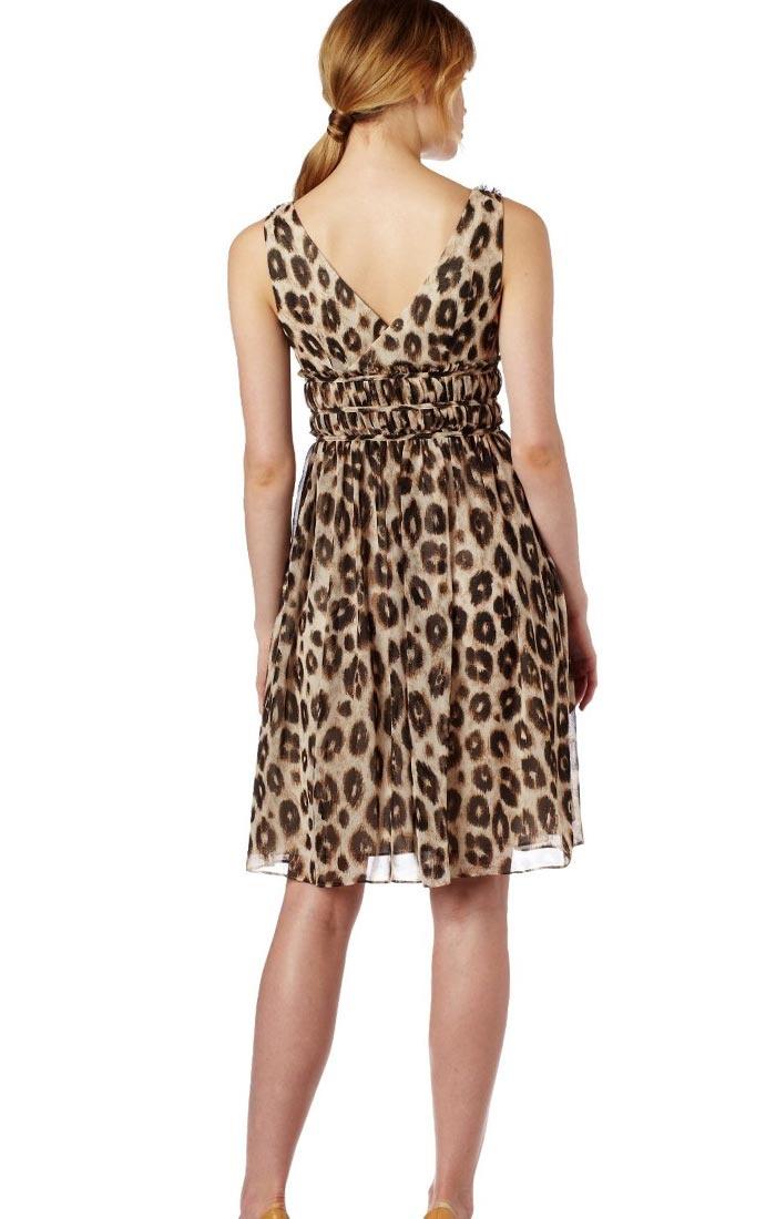 cheetah print dresses | Donna Morgan Animal Print Day Dress | Beautiful Fashion Dresses