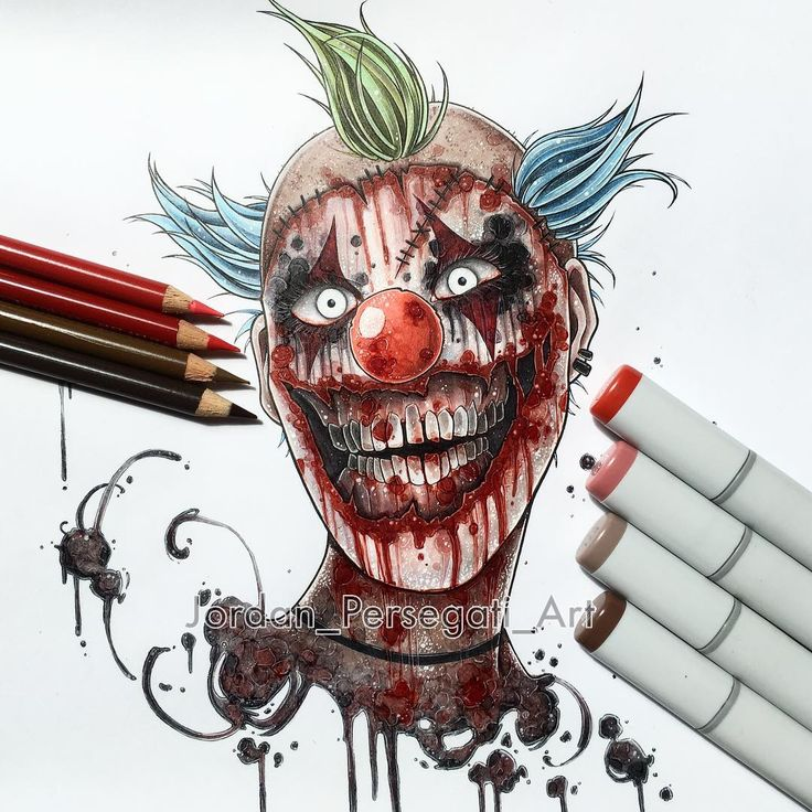 I'm working on a killer clown creepypasta video for my YouTube channel, should be done soon! Just working on the editing 👊 Inspired by Twisty the clown from AHS. #copicart #animeart #animedrawing #clown #killerclown #creepypasta #twistytheclown #horrorart