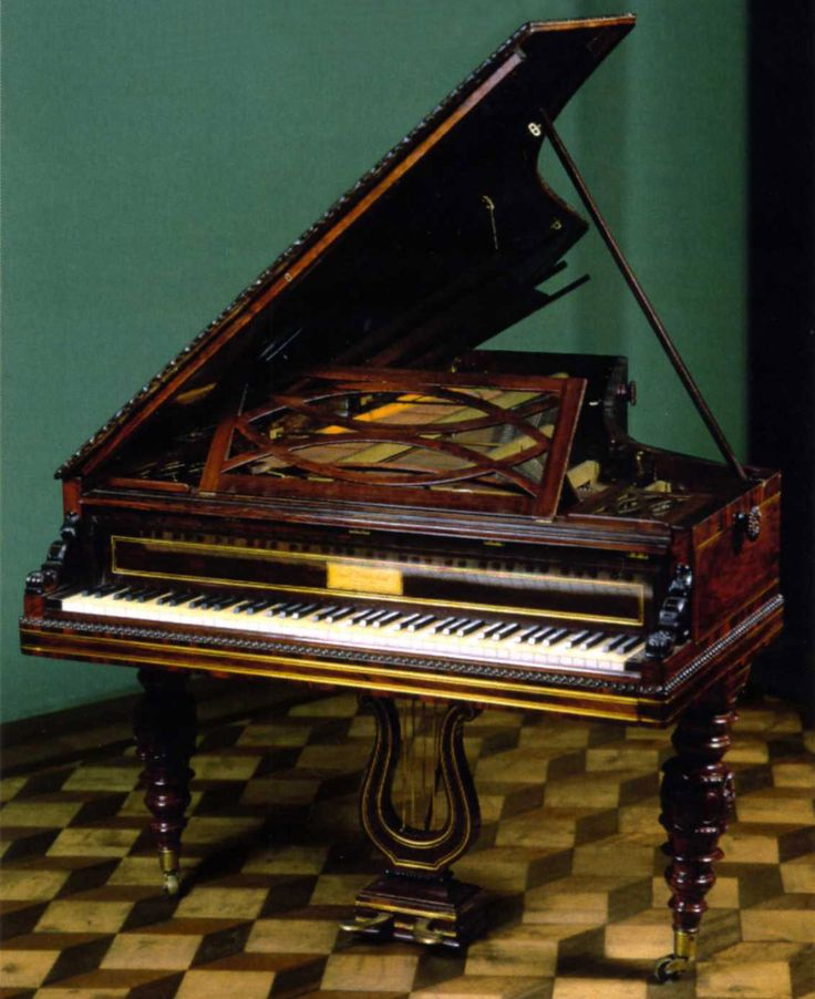 Pleyel grand piano that once belonged to Chopin. usc.edu