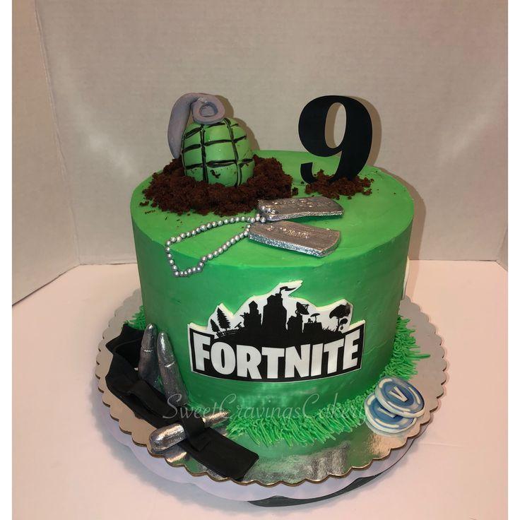 Pin On Fortnite Birthday Cake