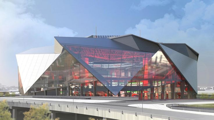 """360 Architecture Tops New Atlanta Stadium with Retractable """"Roof Petals""""--http://www.archdaily.com/590379/360-architecture-tops-new-atlanta-stadium-with-retractable-roof-petals/"""