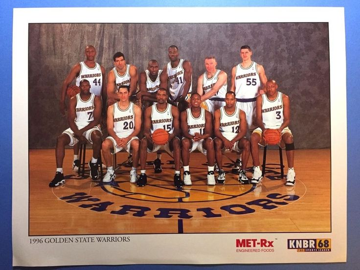 1996 Golden State Warriors Basketball Team Picture Mullen Sprewell Barry Smith #GoldenStateWarriors