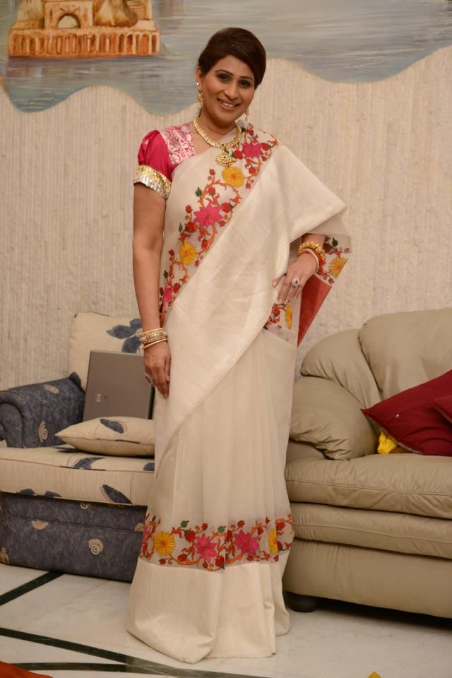 Gaurang Organza Kutch embroidery - for mom