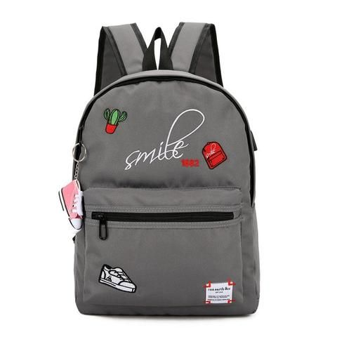 88676ec87df4 Teens Canvas boy school bags for teenage girls Backpack Schoolbag ...