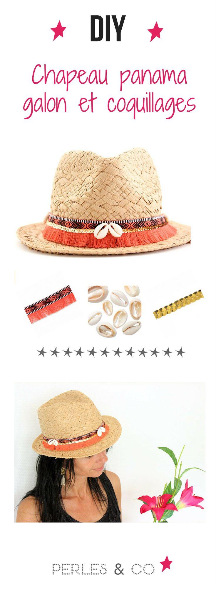 réalisez votre chapeau panama ultra personnalisé ! Apprenez avec ce DIY comment customiser un chapeau de paille pour cet été.