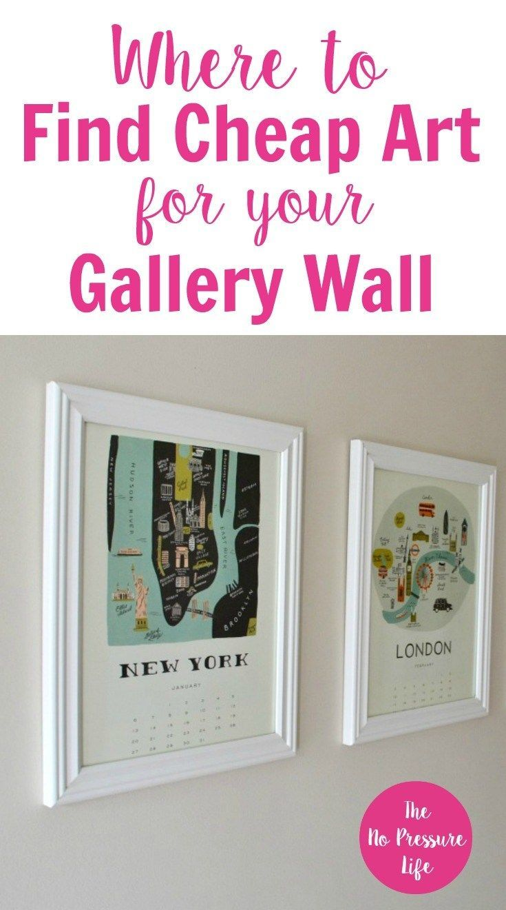 Learn where to find - and how to make - cheap art to fill up your empty walls. If you love the look of a gallery wall but don't know where to find inexpensive, coordinating artwork, this easy DIY project will make your walls look great in just a few minutes - with a calendar! #DIY #DIYart #Crafts