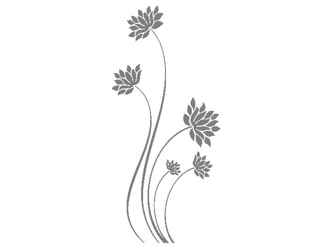 """. Vinilos adhesivos de pared """"Composición floral oriental"""" 04365 - Tienda online de vinilos decorativos, stickers, wall art, decoración"""