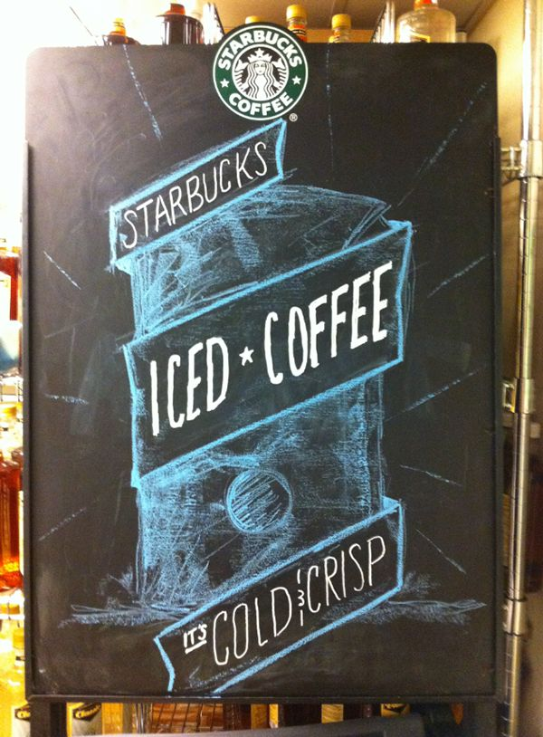 Starbucks Chalkboards on Behance