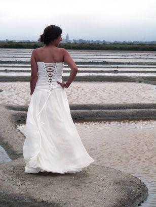 Robe de mariée mousseline plissé buste, Collection 2016 www.portez-vos-idees.com