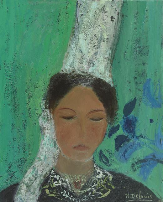 Nancy Delouis - Bretonne à la Coiffe - Messum's | Fine Art Est.1963.