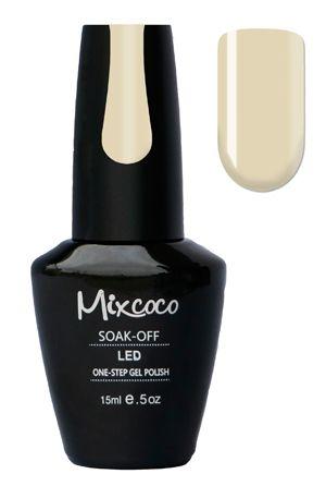 Mixcoco One-Step Gellak # 23 Apres Chique - verkrijgbaar viawww.beautymilleni...- prachtige creme white gelpolish kleur! Mixcoco One Step Gellak vereist geen base of top coat! Een prachtige#gelmanicurebinnen 5 minuten! Zeer geschikt voor beginners! 2 weken prachtig gelakte#nagels! Prijs: €16,95 |#nails#Mixcoco#gellak#gelnails#gelnagels#gelpolish#gellac#gellish#gelish#soakoff