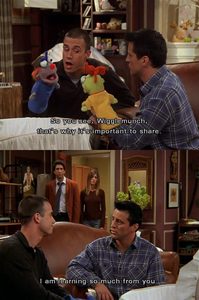 I am learning so much from you. | Joey and Sandy #FRIENDS