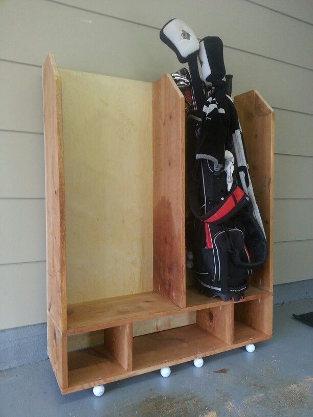 Golf club storage DIY | Golf Clubs | Golf bags, Garage ...