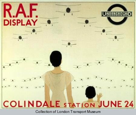 R.A.F. Display one in a series of posters created by A.E. Marty for London Underground