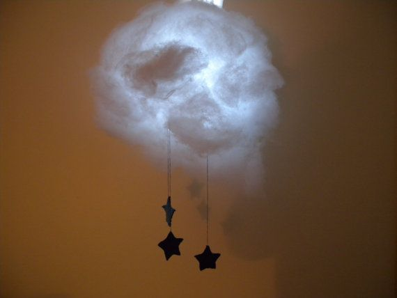 Cloud Night Light with Stars   41 Coolest Night Lights To Buy Or DIY