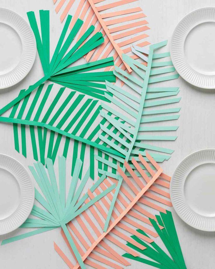 DIY Palm Leaf Table Runner