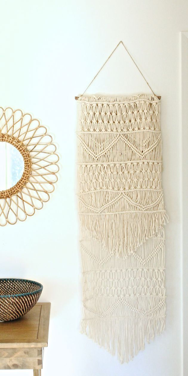 easy diy macrame wall hanging home decor pinterest runners boho and the late. Black Bedroom Furniture Sets. Home Design Ideas