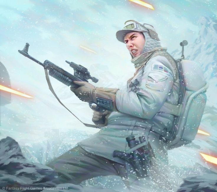 Star Wars: Imperial Assault - Hoth Trooper, Tony Foti on ArtStation at https://www.artstation.com/artwork/star-wars-imperial-assault-hoth-trooper