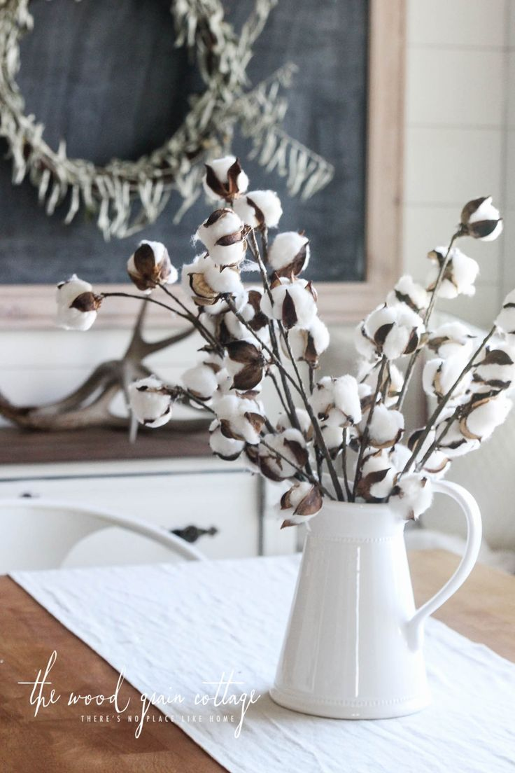 Small Cotton Stems (Set of 5) From The Wood Grain Cottage  (I actually received these for Christmas and LOVE them. They are beautiful and fun and different.)
