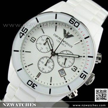 BUY Emporio Armani Chronograph White Ceramic Watch AR1424 - Buy Watches Online | EMPORIO_ARMANI NZ Watches