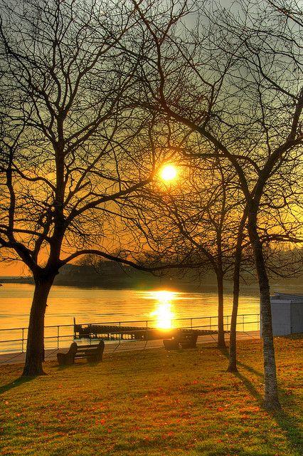 Sunset at Linden Point, Branford, Connecticut