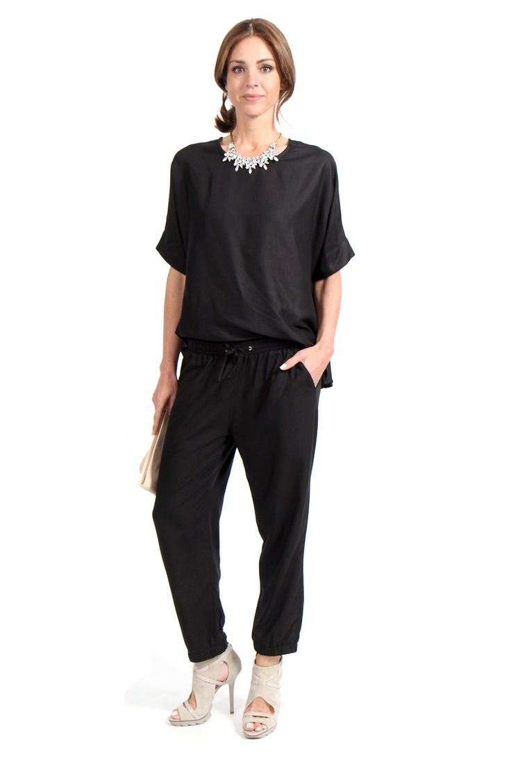 Noir Drawstring Pant - Surafina