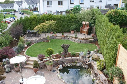 216 best garten images on Pinterest Backyard patio, Garden ideas - steinmauer im garten