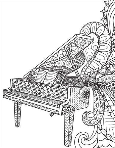 325 best Music Coloring Pages for Adults images on Pinterest ...