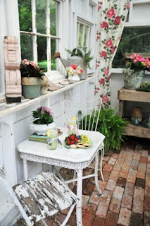 old brick pavers like mine!  Make a window using old mirror