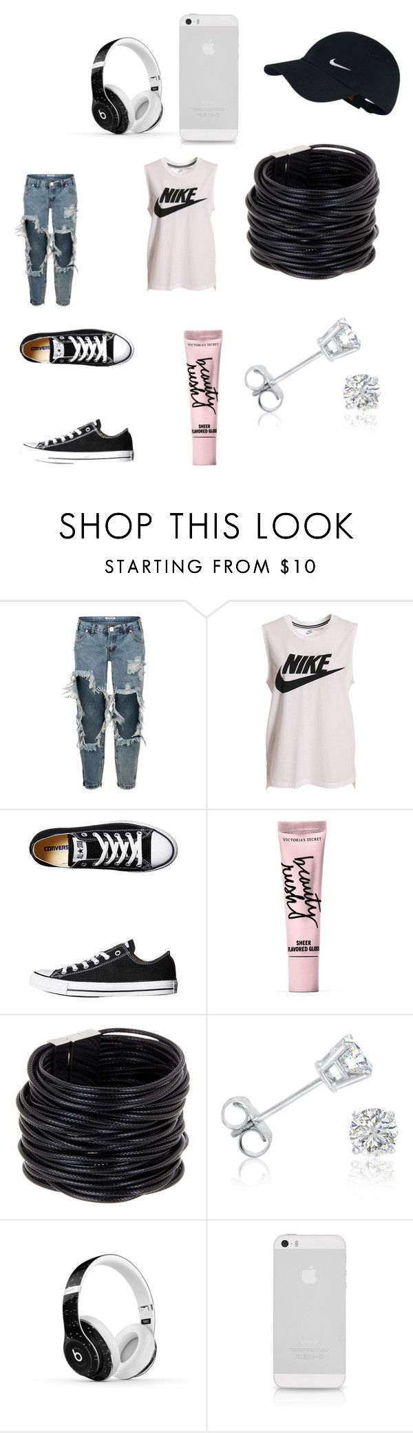 """""""Tomboy Tuesday"""" by lbk363 ❤ liked on Polyvore featuring One Teaspoon, NIKE, Converse, Beauty Rush, Saachi, Amanda Rose Collection and Beats by Dr. Dre"""