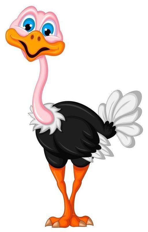 Coloriage Bebe Autruche.Autruche Clipart 9 Cartoon Birds Art Et Colorful Pictures
