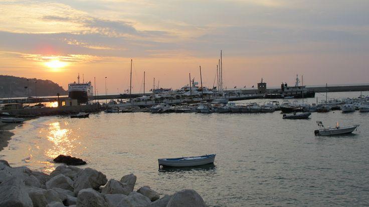 Beutiful sunset in Casamicciola