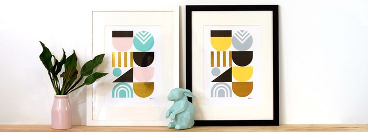 The 'Deco Gold' print series by Duett Design NZ