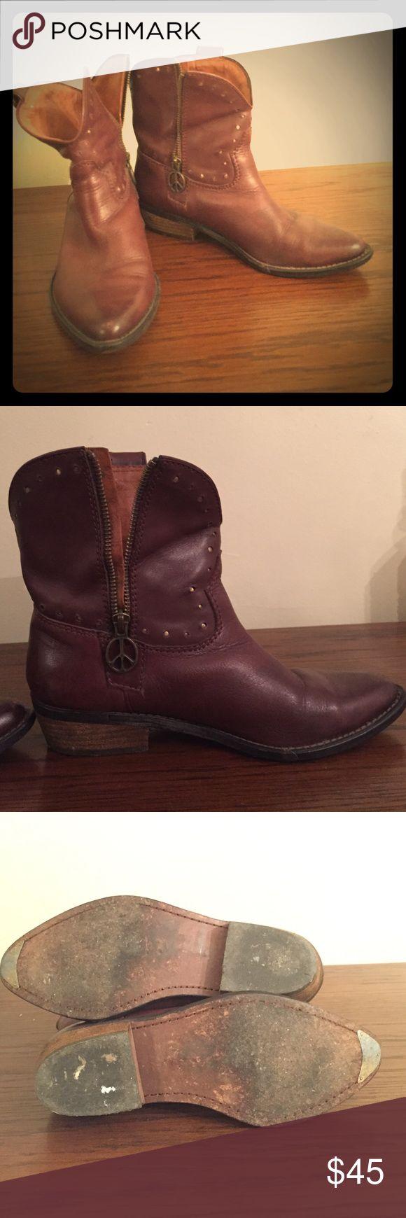 Women's western boots Lightly worn Lucky Brand boots Lucky Brand Shoes Ankle Boots & Booties