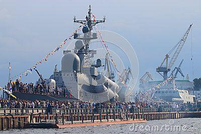Day of the Navy. Lieutenant Schmidt Embankment. Saint-Petersburg, Russia