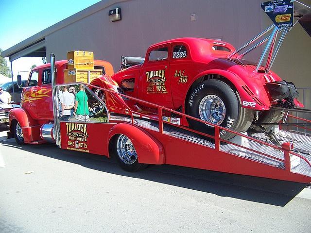 Custom GMC   car hauler