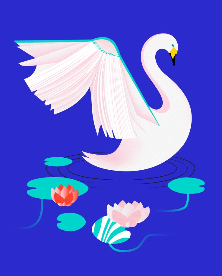 """Swan"", Illustration by Sofia Pusa, 2017"