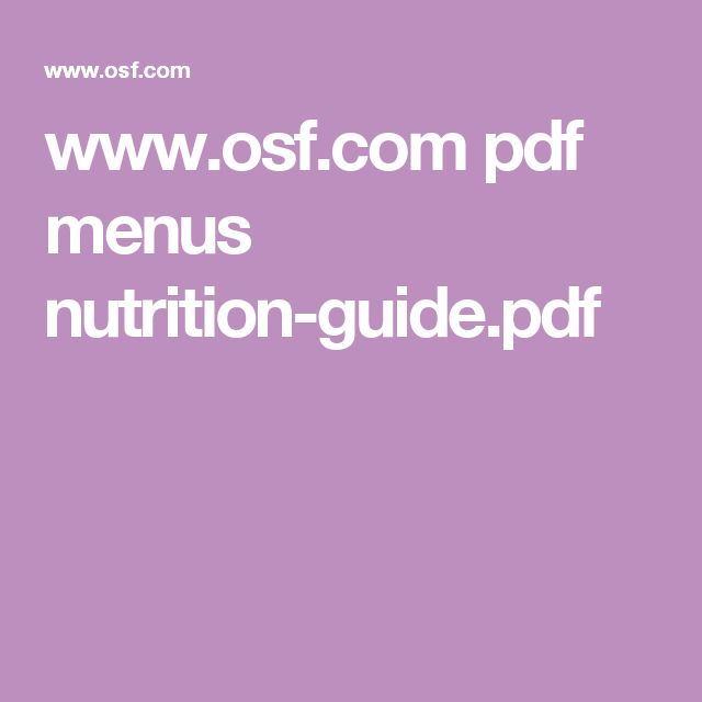 Old Spaghetti Factory Nutrition Www Osf Com Pdf Menus Nutrition Guide