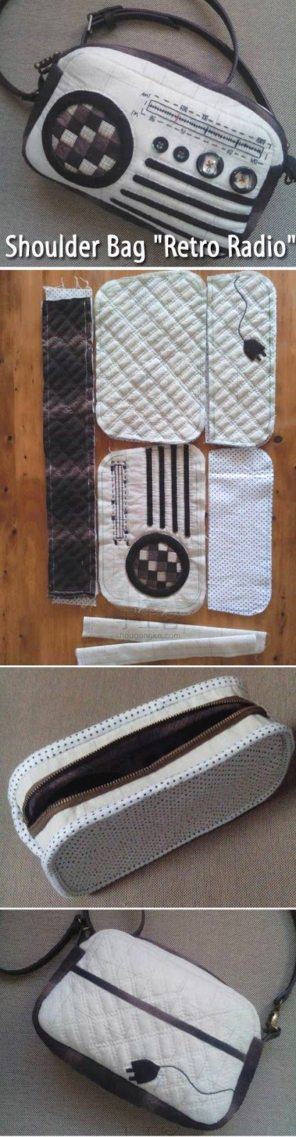 "Shoulder Bag ""Retro radio"". DIY step-by-step tutorial.  http://www.handmadiya.com/2015/08/shoulder-bag-retro-radio.html"