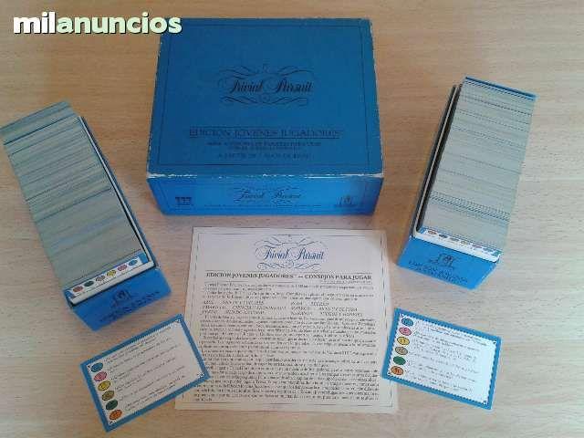 Vendo juego de mesa trivial pursuit ed jovenes jugadores solo caja preguntas 1985. Anuncio y más fotos aquí: http://www.milanuncios.com/juegos-de-mesa/tarjetas-de-trivial-pursuit-138165717.htm