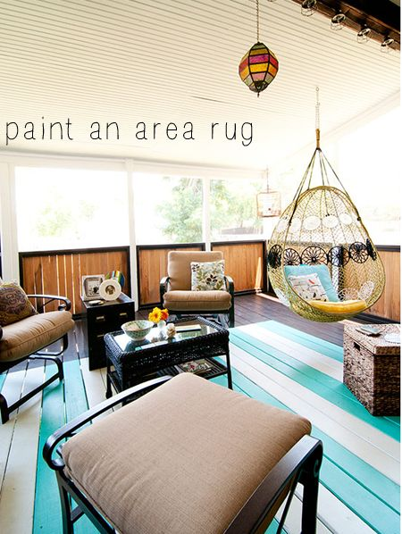 Painting A Rug On A Porch | For The Deck: Paint A Rug On.