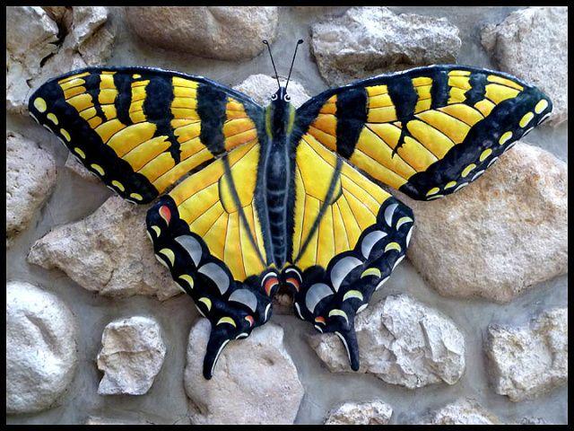 293 best Butterflies - Hand painted metal butterfly wall art images ...